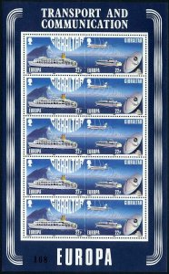 Gibraltar 524-527a sheets,MNH.Michel 544-547. EUROPE CEPT-1988.Transport,