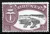 Brunei 1964-72 def $5 black & maroon glazed paper unm...