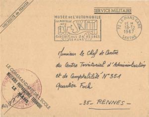 France Military Free Mail 1967 72 Le Mans Gare, Sarthe Musee de l'Automobile ...