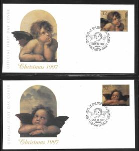 Marshall Islands 647-48 Christmas Angels unaddressed FDC
