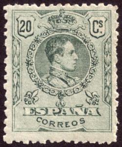 Spain 1909 20c Green SG334 MH