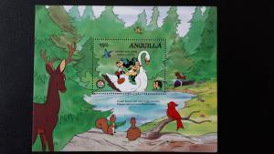 Disney - Anguilla 1985. - Christmas, Brothers Grimm ** MNH Block