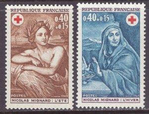France (1969) #B423-24 MNH