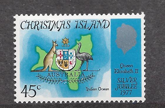 Christmas Islands, 85, Silver Jubilee 1977 Single, MNH