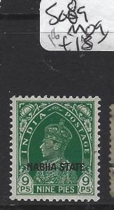 INDIA  PATIALA  (PP2408B)   KGVI   9P  SG 89   MOG