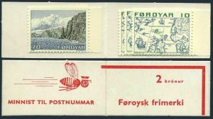 Faroe 8 x6,11 x2,booklet, MNH.Michel 8,11. Map,Ship.Booklet image:Bee.1975.