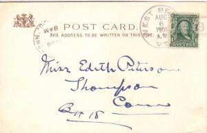 United States Vermont West Berlin 1906 doane 2/3  1884-1918  PC.