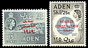 Aden 63-64, MNH, Revision of Constitution