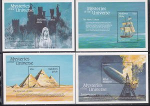Maldive Islands # 1757-1772, Mysteries of the Universe set of 16 Sheets, NH, 1/2
