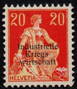 $Switzerland Sc#106 M/LH/VF, Cv. $125