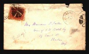 US 1860s San Fran Cover to Boston - L4775