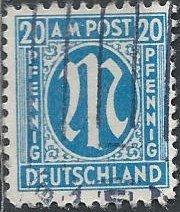 Germany 3N11(a?) (used) 20pf AMG (1945)