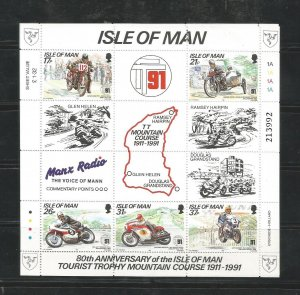 O) 1991 isle of man, motorcycle, tourist trophy mountain, course, oliver godf...