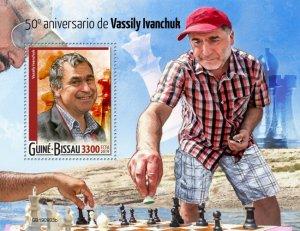 GUINEA BISSAU - 2019 - Chess, Vassily Ivanchuk - Perf Souv Sheet - M N H