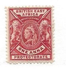 British East Africa, 73, Queen Victoria/Lions Single,**H**
