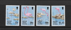 BIRDS - BRITISH VIRGIN ISLANDS #811-14  FLAMINGOS  MNH