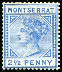 HERRICKSTAMP MONTSERRAT Sc.# 8 Mint Hinged Scott Retail $29.00