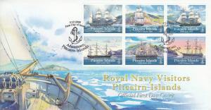 Pitcairn Island 2009 FDC Visiting Royal Navy Sailing Ships Block of 6