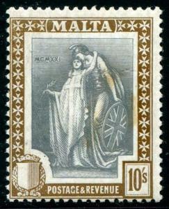 HERRICKSTAMP MALTA Sc.# 113 1922 High Value, Fine NH