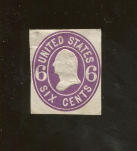 1865 United States of America George Washington 6c Postage Stamp #U64 CV $55