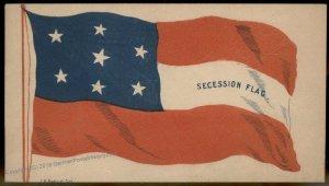 CSA Civil War Confederate Secession Flag Patriotic Cover 92887