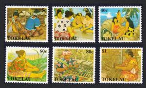 Tokelau Women's Handicrafts 6v SG#177-182 SC#165-170