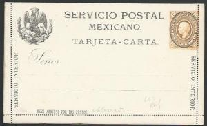MEXICO early 4c lettercard unused..........................................10449