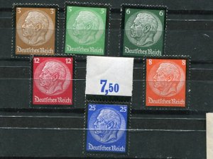 Germany  #436-41  Mint VF NH - Lakeshore Philatelics