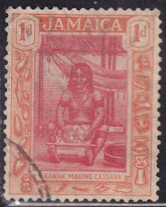 Jamaica 76 Arawak Woman Making Cassava 1d 1921