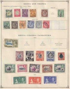 KENYA UGANDA  NICE COLLECTION  FROM INTERNATIONAL ALBUM PART 1 1840 - 1940  Z268