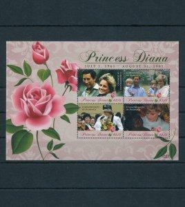 [106704] Dominica 2010 Royalty Princess Diana Charles Roses Sheet MNH