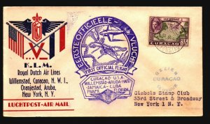 Curacao 1943 First Flight Cover to New York - Z17821