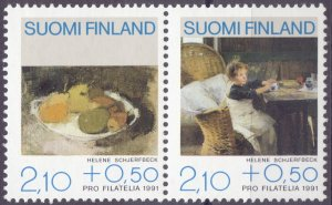 Finland. 1991. 1132-33. Painting. MNH.