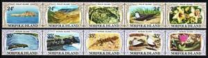 1982 Norfolk Island Scott 288-9 Views of Islands MNH