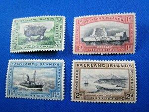 FALKLAND ISLANDS  1933  -  SCOTT # 65-68  -  MH           (Hf3)