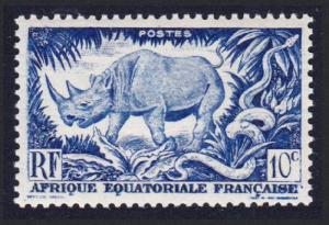 Fr. Eq. Africa Rhinoceros 10c Blue 1v SG#235 SC#166