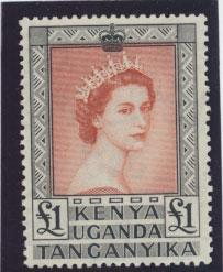 Kenya Uganda Tanganyika SG 180a  Mint very light Hinge