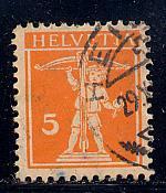 Switzerland Scott # 158, used