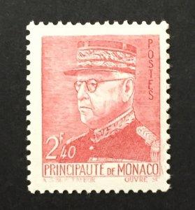 Monaco 1942 #188, Louis II, Unused/MH.