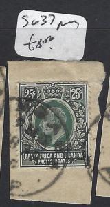 EAST AFRICA AND UGANDA (P0205B)  KE 25C SG 40 SON ON PIECE  VFU