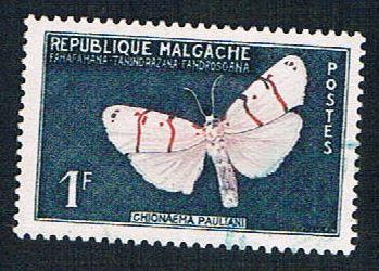 Madagascar 309 Used Butterfly (BP14420)