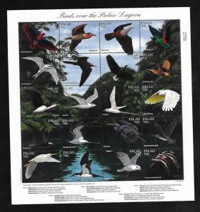 PALAU, 402 (a-t), MNH , BIRDS OVER PALAU LAGOON