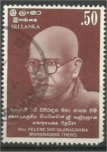 SRI LANKA, 1983, used 50c, Rev. Pelene Thero Scott 697
