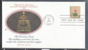 United States, 1611, $2 Kerosene Lamp FDC, Used