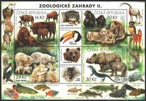 Czech Republic. 2017. bl65. Czech zoos, fauna. MNH.