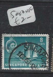SINGAPORE   (P0906B)  QEII  8C  SG 43   VFU