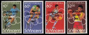 St. Vincent B5 - B8 MNH