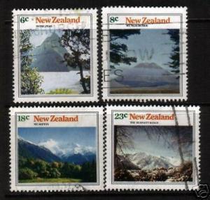 NEW ZEALAND 1973 MOUNTAIN SCENES  SET 4 FU
