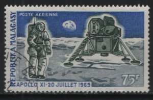 MALAGASY, C95, USED, 1970, 1st anniv. of mans first landing on the moon