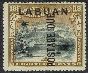 LABUAN 1901 POSTAGE DUE 18C